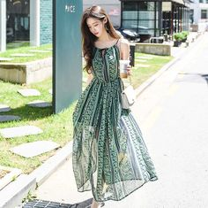 Women Floral Summer Dress Vintage Spaghetti Strap Party Dress Sexy Boh – Ozzy Bella All Great Apparel Sexy Dresses, Casual Dress Outfits, Sexy Party Dress, Vintage Summer Dresses, Summer Dresses For Women, Dress Vintage, Strappy Maxi Dress, Vestidos Vintage, Women's Summer Fashion
