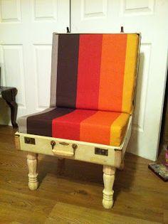 DIY Lizzie Ree: DIY Suitcase Chair!
