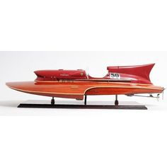 Old Modern Handicrafts Ferrari Hydroplane Model Boat in Brown Wooden Speed Boats, Wood Boats, Boat Building Plans, Wooden Boat Building, Wooden Boat Plans, Vintage Boats, Diy Boat, Motor Yacht, Small Boats