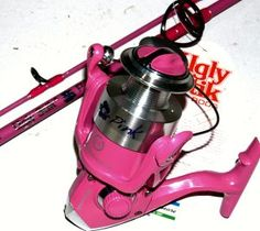 Have this!  Caught my first bass on it!  Hooked!   pink fishing gear - Bing Images