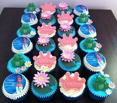 Disney Princess and the Frog Themed Cupcakes