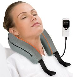 This deep tissue 3D vitality deluxe neck massager is designed to help release pain, fatigue and tension on neck and shoulder area through the cervical spine kneading massage. This 3D vitality deluxe neck massager is equipped with two deep tissue rotating massage heads that can comfortably fit the cervical spine shape supported under your neck, which brings you the most comfortable deep tissue massaging and helps release muscle tension, tightness and soreness.      Price: $99.95