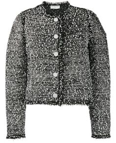 BALENCIAGA Fringed Tweed Jacket