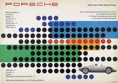 Hanns Lohrer, Porsche Victory poster, 1961