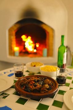 Marrakech: Moroccan Lamb Tajine with prunes and almonds (one of our most popular recipe posts on our blog.)