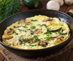 Mushroom and vegetable frittata Paleo Quiche, Zucchini Cheese, Vegetable Frittata, Pizza Bake, Vegetarian Paleo, Portobello, Cheeseburger Chowder, Risotto, Potato Salad