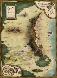 Cartographers' Guild - May/June 2016 Lite Challenge Results Fantasy Map Making, Fantasy World Map, Fantasy Art, Vintage Maps, Antique Maps, Map Sketch, Sketches, Dnd World Map, Rpg Map