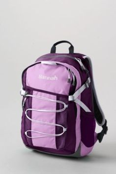 Solid FeatherLight Medium Backpack from Lands' End www.jaynamorrow.com