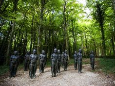 Don't think I'd like to come across these scupltures in a forest