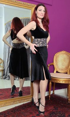 ConDiva velvet and lace tango dress. Pinned by Amy of www.amysshop.co 9a792dc411e
