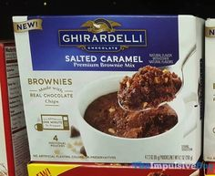 SPOTTED ON SHELVES: Ghirardelli Chocolate Peanut Butter and Salted Caramel Premium Mug Brownie Mixes
