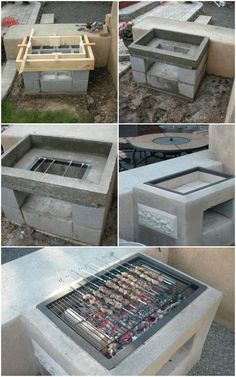 Build an Open Grill with Cinder Blocks Cool DIY Backyard Brick Barbecue #Ideas