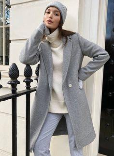 THE STEDMAN COAT - Mid-length, wool coat Mens Winter Overcoats, Double Breasted Coat, Single Breasted, Warm Outfits, Purple Outfits, Winter Outfits, Blazer And Shorts, Checked Blazer, Oversized Coat