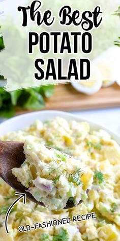 This is literally the best potato salad recipe, ever. Packed full of flavor, you're going to love how simple this summer side dish recipe is. Veg Dishes, Potato Dishes, Food Dishes, Side Dishes, Homemade Potato Salads, Best Potato Salad Recipe, Potato Recipes, Classic Potato Salad, Creamy Potato Salad