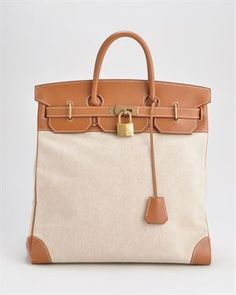 Hermes LUIB Birkin HAC 50cm Toile Courchevel Leather Tote, 7/10 Condition $9600   if I won the lottery..maybe