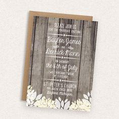 Save 15% // DIY Printable Wedding Invitation  by MintCloudLLC