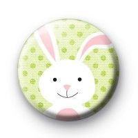 White Fluffy Easter Bunny Badge #Bunny #Easter #Handmade #Cute #Craft #Badges