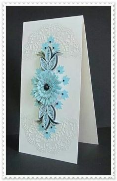 Flower on Front Card.
