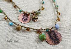 Bead Crochet Necklace 6x Wrap Bracelet by BeYOUtiflyCreations, $51.00