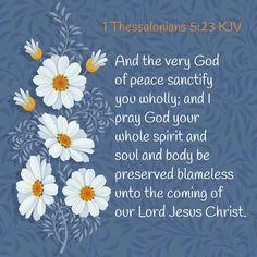 1 Thessalonians 5:23 KJV
