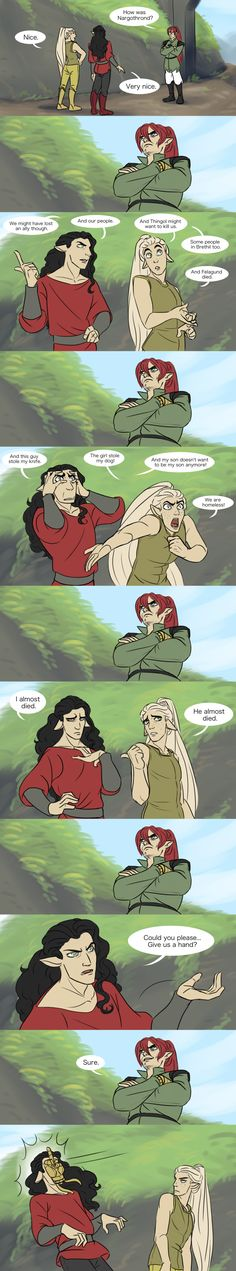 A hand by IDAHL on DeviantArt (Curufin and Celegorm meet Maedhros after their expulsion from Nargothrond)