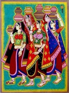 Good morning to all. Rajasthani Painting, Rajasthani Art, Madhubani Art, Madhubani Painting, Art And Illustration, Wallpaper Flower, India Painting, Ganesha Painting, Indian Folk Art