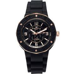Women's Black Dial Black Rubber - Oceanaut Watch