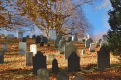 Old burial hill in Plymouth. Massachusetts