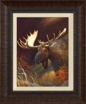 Moose Portrait:  A Beautiful Framed Piece From Studio Artique Based Out Of San Clemente, CA.