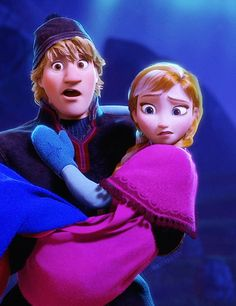 I believe this would be their exact reaction if the trolls asked during the movie if the two of them were going to get married and have kids together. Anna and Kristoff <3 my favorite Disney Couple!!