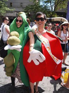 Food Forward walks in the Pride Parade. July 2011
