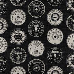 Dark Vintage Motorcycle Speedometers Art Print by Gone Undone