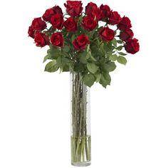 Giant Rosebush - Silk Flower Arrangement