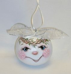 Snowman Gourd Tree Ornament  Hand Painted Gourd by FromGramsHouse