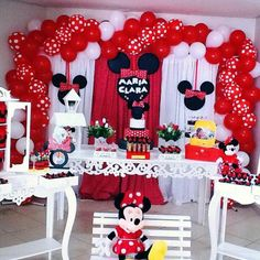 Minnie Mouse Birthday Cakes, Minnie Mouse Party, Mickey Mouse, Mickey Baby Showers, Baby Mickey, Mini Mousse, 3rd Birthday Parties, Party Themes, Birthdays