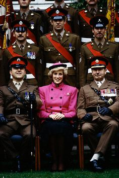 Princess Diana with the Royal Hampshire Regiment, October 1985.