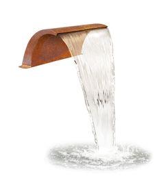 Cette magnifique cascade arquée agrémentera parfaitement n'importe quel bassin.Fabriquée à partir d'acier Corten, qui lui procure cette apparence unique et lui apporte les propriétés nécessaires pour être entièrement imperméable et résistante à la corrosion, cette fontaine pa
