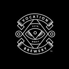 Logo for microbrewery Vocation designed by Leeds based studio Robot Food.