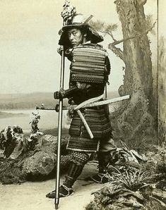 T. Enami. Ancient Warrior Costume of the Japanese. (Self-portrait). (ca. 1902).