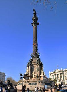 Monument to Columbus, Barcelona - Catalonia.