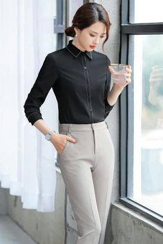 Business Outfits Women, Office Outfits Women, Stylish Work Outfits, Business Fashion, Classy Outfits, Semi Formal Outfits For Women, Korean Girl Fashion, Asian Fashion, Girls Fashion Clothes
