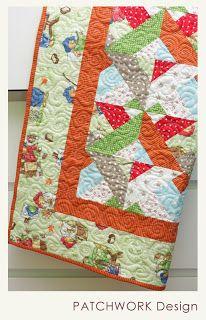 PATCHWORK Design Blog: Šijeme z roliek - 2. časť - pestrá detská deka