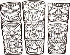 Vintage Carved Polynesian Tiki Totem Vector Idol Masks - Image vectorielle issue de la plus grande bibliothèque d'images libres de droits, sur Shutterstock uniquement. Description from pinterest.com. I searched for this on bing.com/images
