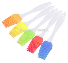 20pcs/lot Oil Cream Brush Silicone Cake Bread Pastry Honey BBQ Brushes Cooking Tools 175*32*10mm CT042 #Affiliate