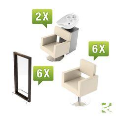 Friseureinrichtung Kubik Set 3 - günstig bei Friseurzubehör24.de // Sie interessieren sich für dieses Produkt? Unsere Service-Hotline: 0049 (0) 2336 87 000 11