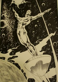 buscema draws silver surfer- the celestial hippy                                                                                                                                                     More