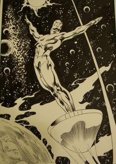 buscema draws silver surfer- the celestial hippy