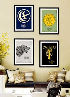 Affiche Poster A4 / A3 - Games of Thrones FAMILY  (25% off shop page / -25 sur la page boutique)