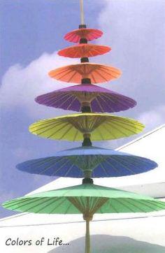 Thailand colorful umbrellas