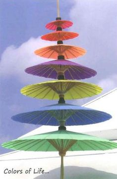 Thailand colorful umbrellas